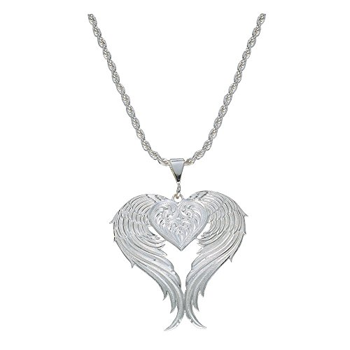 Montana Silversmiths Women's Silver Winged Heart Necklace Silver One Size - Montana Silversmiths Heart