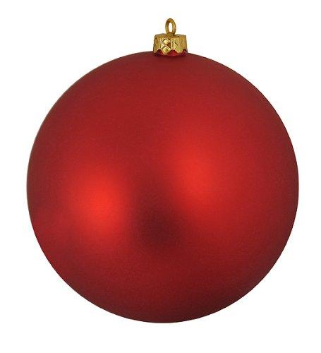 (Matte Red Hot Commercial Shatterproof Christmas Ball Ornament 6