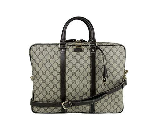 Gucci Men's Briefcase Beige/Ebony GG Coated Canvas 201480 FCIEG 9643
