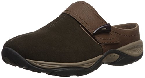 Easy Spirit Suede Clogs (Easy Spirit Women's Eliana Mule,green/brown suede,8 M US)