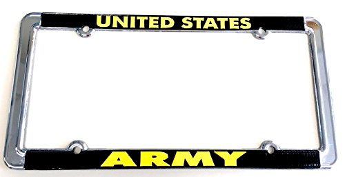 United States Army 6''x12'' Metal Chrome License Plate Frame by Unknown