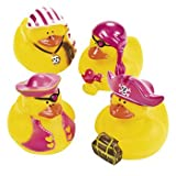 One Dozen (12) Girl Pirate Rubber Duck Party Favors [Toy], Health Care Stuffs