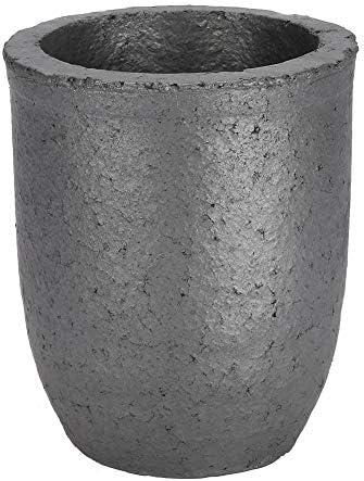 6 KG, Gießerei Ton Graphit Tiegel Schwarz Tasse Ofen Fackel Schmelzen Gießen Raffinieren Gold Silber Kupfer Messing Aluminium