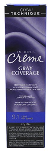 L'oreal Excellence Creme Permanent Hair Color Light Ash Blonde No.9.1, 1.74 Ounce