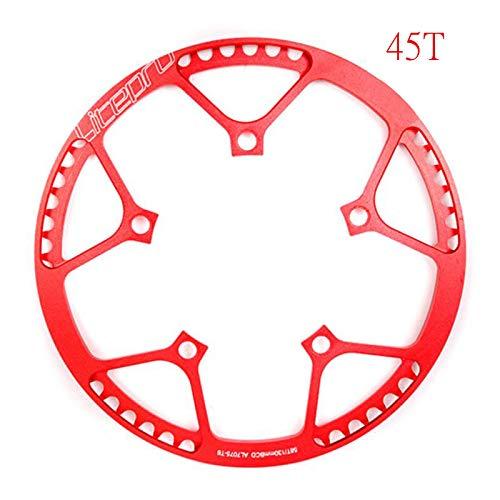 - LOLTRA Litepro Chainwheel for Single Speed 130BCD Folding Bike BMX, 45T/47T/53T/56T/58T AL7075 Chainring