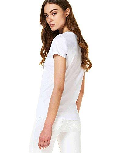 Liu Jo T-Shirt m/c chanson Donna MOD. W18098J5371 Bianco Ottico