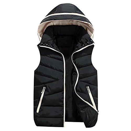 水コーデリア特別なTTC 中綿ベスト 男女兼用 親子服 ペアルック 全5色 ブート付き 防寒 ショート丈 袖なし 前開き ジャケット サイズ豊富