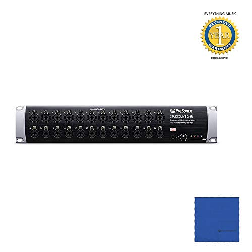 Presonus StudioLive 24R 26-input, 32-channel Series III Stage Box and Rack Mixer with Microfiber and 1 Year Everything Music Extended Warranty