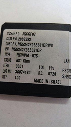 lot of 72 pcs VISHAY M55342K06B681DR Resistor,Thin Film,681Ohms,50WV,1+/-% Tol,-100,100ppm-TC,0805-Case