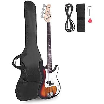 crescent electric bass guitar starter kit redburst color includes amp. Black Bedroom Furniture Sets. Home Design Ideas