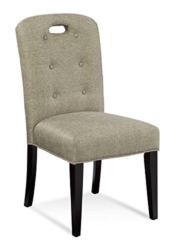 Parsons Mirror - Bassett Mirror Bartlett Slotback Parsons Chair Set of 2 Linen Tweed - DPCH35-748EC