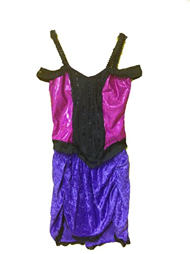 Moulin Rouge Dancer Costume (Moulin Rouge Cabaret Costume in Purple/Pink/Black (Purple/Pink))