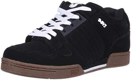 DVS Men's Celsius Skate Shoe Black/White Gum Nubuck Anderson 8 Medium US