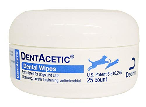 Dentacetic Dog (DentAcetic Pet Dental Wipes 25 Count)