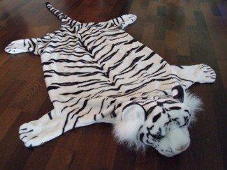 Tigerfell tiger fell pelz bettvorleger teppich 170 cm: amazon.de