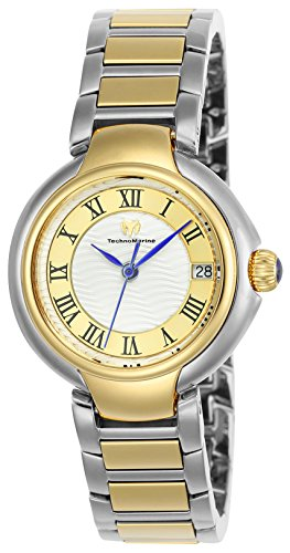 Technomarine Women's 'Sea' Quartz Stainless Steel Casual Watch, Color:Two Tone (Model: TM-716008) (Model Casual)