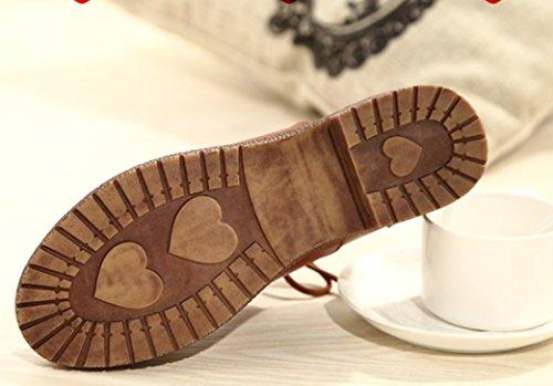 Gillberry Printemps Nouveau Style Britannique Chaussures Rétro Chaussures Avec Épais Avec Des Chaussures Oxford Marron