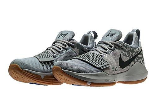 Nike Pg 1 Superstition Zapatillas De Baloncesto Hombre Lobo Gris / Lobo Gris-fresco Gris Nuevo 878627-009 - 9.5