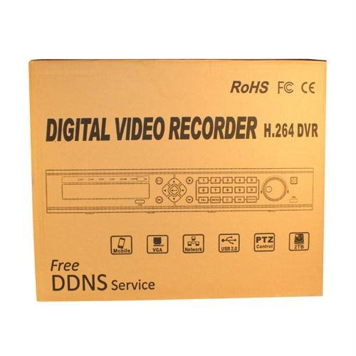 16 CHANNEL EMBEDDED DVR H.264 Compression Rate, 240 FPS WITH 2TB HD
