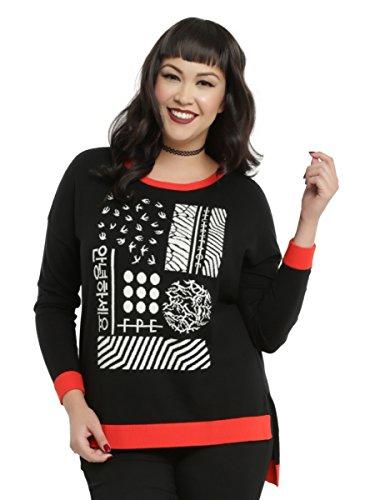 Twenty One Pilots Red Trim Girls Sweater Plus Size