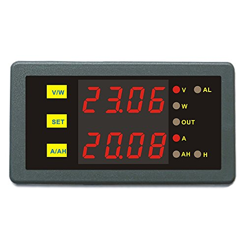 Battery Monitor DC 0-90V 0-100A Combo Meter Voltage Amp Power Ah Hour Programmable Limit Protection For Motor Boat Car Motorhome Caravan Battery Tester - Combo Pack Monitor