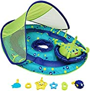 SwimWays Baby Spring Float Activity Center with Canopy - Inflatable Float for Children with Interactive Toys a