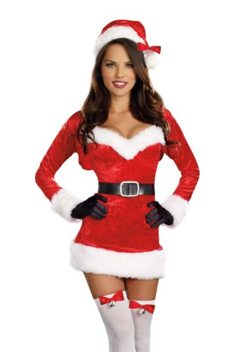 Dreamgirl Women's Santa Baby Costume, Red, Medium -