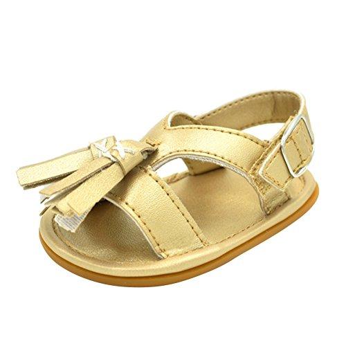 Sandalias De Bebe,BOBORA Prewalker Zapatos Primeros Pasos Para Bebe Classic Simple Flecos Sandalias De Goma De Bebe oro