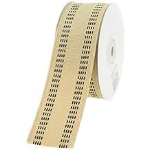 """Homeford FHV000043539 10 yd Burlap Webbing Stitch Ribbon, 1.5"""", Black"""