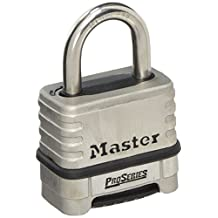 Master Lock 1174D Resettable Pro Series Combination Padlock, Stainless Steel