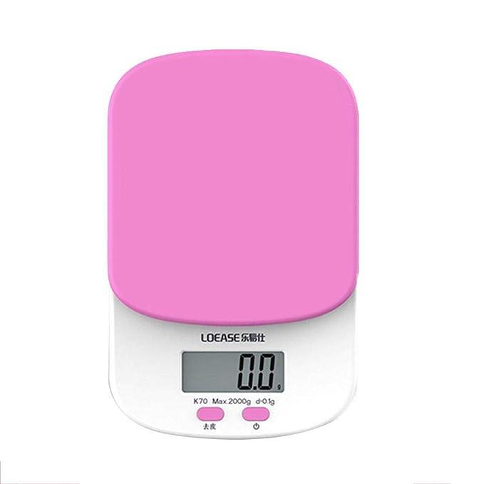 Básculas de pesaje de cocina Bake Off Elegante báscula de cocina electrónica para el hogar Pesa los alimentos Bolsillo de alta precisión Mini bandejas ...