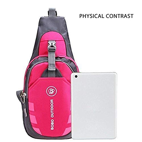 Shoulder Unisex Nylon Sling Size color Outdoor Chest Backpack Bag Hiking Casual Moontang q5ZFwatx