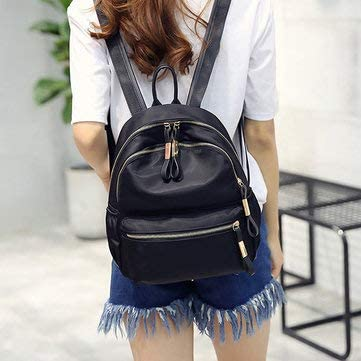 Women Casual Wild Black Travel Bag Backpack Designer Handbag Shoulder Bag Womens Bags Backpack Black