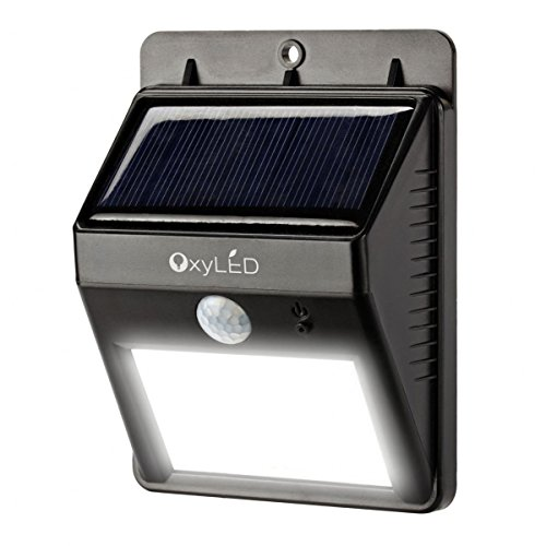 OxyLED174; SL30 Bright Outdoor LED Light Solar Powered -Waterproof- Motion Sensor Detector for Patio, Deck, Yard, Garden, Home, Driveway, Stair, Wall/Security Lighting/Dusk to Dawn Dark Auto On/Off