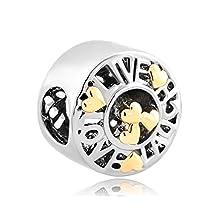Live Love Laugh Charms Silver/Gold P Heart Bead Fit Pandora Bracelets