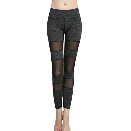 Cideros High Flex Workout Legging Soft Yoga Sports Dance Pants Fitness Power Flex Yoga Pants Leggings - Gray
