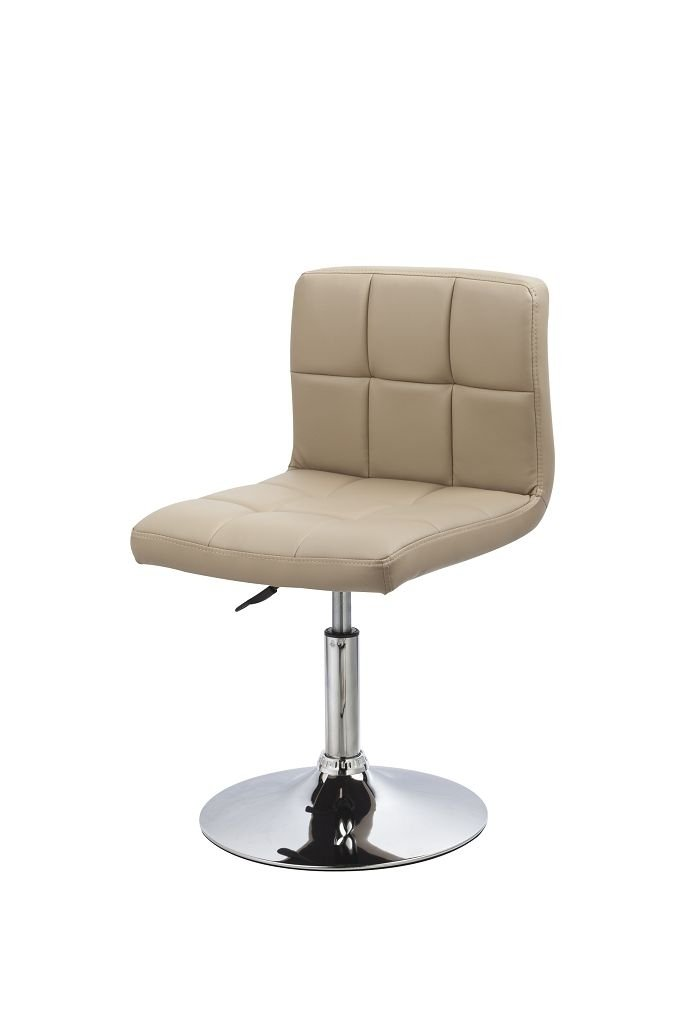 2x Sedia da sala da pranzo in similpelle beige con schienale regolabile in altezza girevole selezione colore Duhome WY-451N