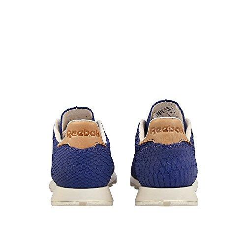 Reebok - CL Leather Clean LU Midnight Bluechalk - V69679 - Farbe: Blau-Weiß - Größe: 42.0