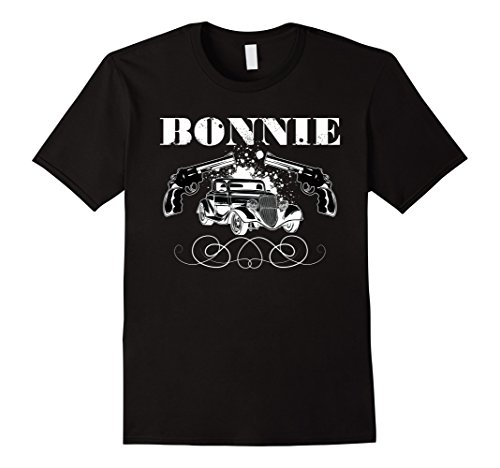 Mens Bonnie The Famous Gangster Matching Couples Halloween Tshirt Small (Famous Couples For Halloween Ideas)