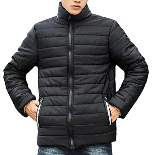 Black Stand Down Light Jacket Long Collar Weight Gocgt Puffer Men's Sleeve 8PWvv4