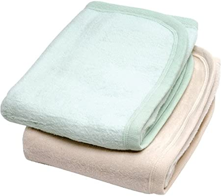 Under The Nile Organic Cotton Crib Blanket / Play Mat - Sage Green