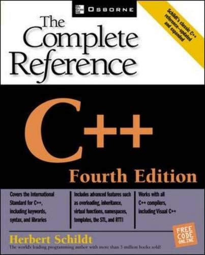 C++: The Complete Reference, 4th Edition from McGraw-Hill Education