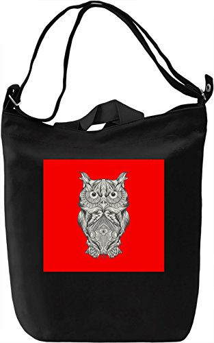 Owl Print Borsa Giornaliera Canvas Canvas Day Bag| 100% Premium Cotton Canvas| DTG Printing|