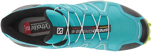 Salomon Women's Speedcross 4 W Trail Running Shoe, Bluebird/Acid Lime/Black, 5.5 B US by Salomon (Image #7)