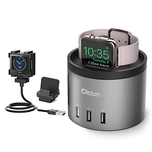 Cheap Smart Watch Cables & Chargers Oittm Apple Watch Series 3 Stand [3 in 1 Bracket Power Dock]..