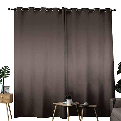 duommhome Ombre Living Room Curtain Dark Wooden Tree Nature Inspired Digital Print with Ombre Colored Modern Design Energy Saving Provides a Modern Look W72 xL72 Brown