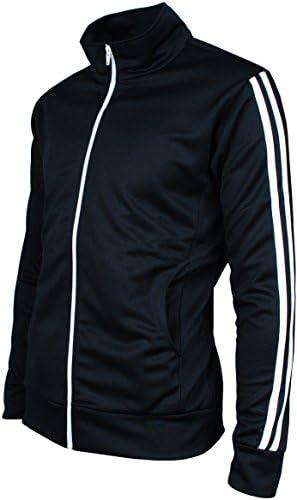 Angel Cola Mens Retro Stripes Full Zip-up Track Top Jacket