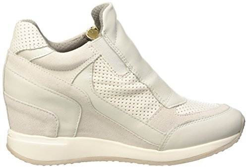 Sandalias Plataforma Geox Nydame Off Mujer con D Bianco para White White a wqqtS7BxX