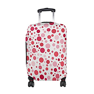 durable modeling U LIFE Vintage Polka Dots Pink Luggage Suitcase Cover Protector for Travel
