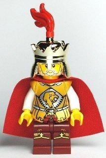 LEGO King (Lion Army) - LEGO Kingdoms Castle Minifigure with Metallic Gold Great Sword